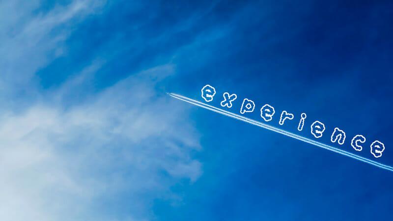 飛行機雲で経験